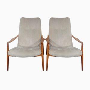 Mid-Century Kirschholz Sessel von Hartmut Lohmeyer für Wilkhahn, 1960er, 2er Set