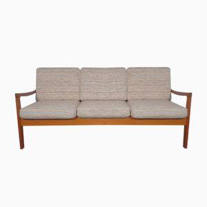Mid-Century Danish Senator Teak 3-Seater Sofa by Ole Wanscher for Poul Jeppesen, 1950s