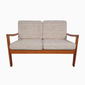 Mid-Century Danish Senator Teak 2-Seater Sofa by Ole Wanscher for Poul Jeppesen