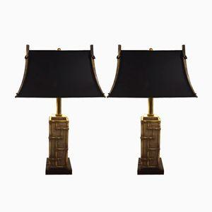 Italienische Vintage Messing Tischlampen, 2er Set