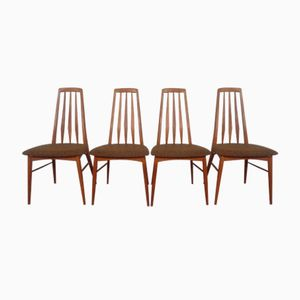 Mid-Century Danish Eva Chairs by Niels Kofoed for Koefoeds Møbelfabrik, Set of 4
