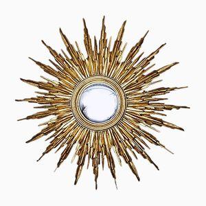 Large Decorative Sunburst Mirror, 1950s