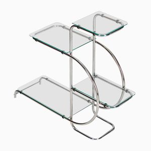 Art Deco Steel and Glass Etagere, 1930s