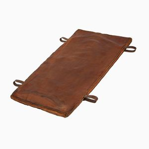 Vintage Czech Gymnastics Mat in Brown Leather, 1940s
