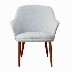 Mid-Century Danish Occasional Chair with Curved Armrests