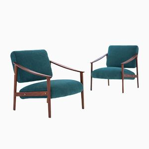 Mid-Century Swedish Armchairs, 1950s, Set of 2