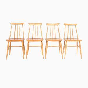 Chaises de Salle à Manger Vintage en Hêtre Contreplaqué de Møbelfakta, Scandinavie, Set de 4