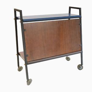 Bar Trolley with Blue Top, 1950s