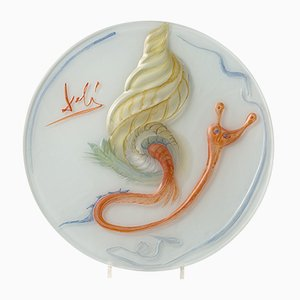 The Snail Glass Plate by Salvador Dali for Rosenthal, 1979
