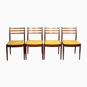 Vintage Yellow Dining Chairs, Set of 4