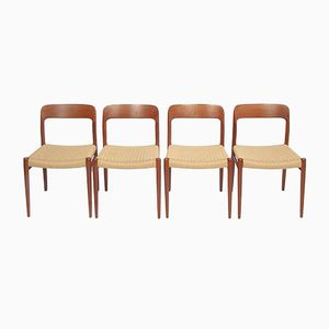 Model No. 75 Dining Chairs from Niels Otto Moller, Set of 4