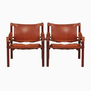Scirocco Safari Chairs from Arne Norell , 1970s, Set of 2