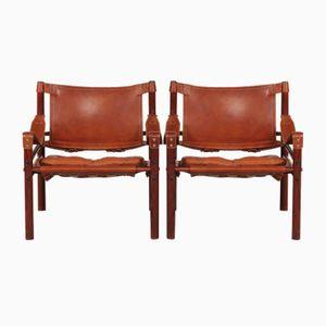Scirocco Safari Chairs von Arne Norell, 1970er, 2er Set