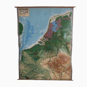 Mappa dei rilievi del Benelux vintage di Chur