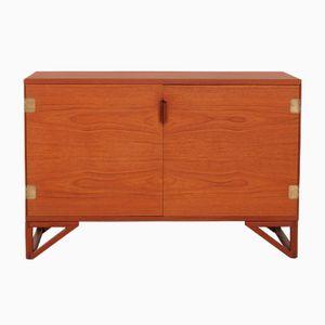 Niedriges Teak Sideboard mit China Legs von Svend Langkilde für Langkilde, 1970er
