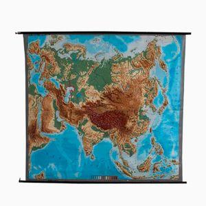 Carte d'Eurasie en Relief Vintage de Rlieftechnik Chur