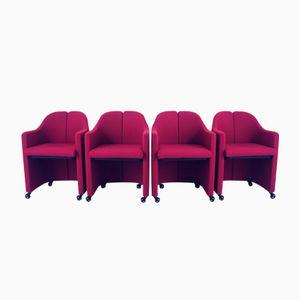 Vintage PS142 Stühle von Eugenio Gerli für Tecno, 4er Set