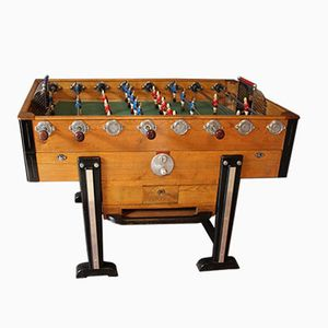 Mid-Century French Wooden Foosball Table