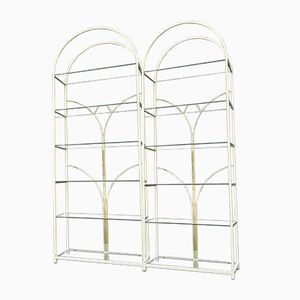 Hollywood Regency Display Shelving Units, 1970s, Set of 2