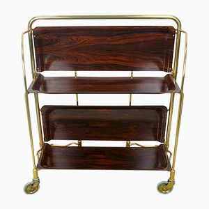 Dining Teak Trolley with Rosewood Effect from Bremshey, 1960s