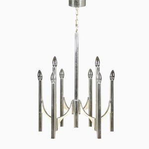 Mid-Century Italian Chromed Metal Hanging Lamp