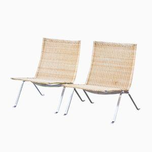 PK22 Chairs by Poul Kjaerholm for Fritz Hansen, 1987, Set of 2