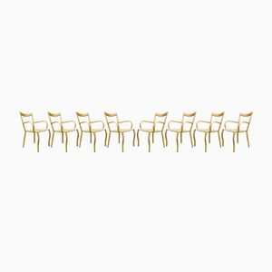 Mid-Century Bamboo Dining Chairs, Set of 8