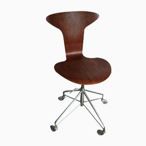 Sedia girevole 3105 di Arne Jacobsen per Fritz Hansen, 1964