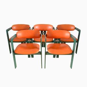 Mid-Century Pamplona Armlehnstühle von Augusto Savini für Pozzi, 1960er, 5er Set