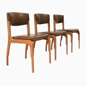 Italian Dining Chairs by Gianfranco Frattini for Cantieri Carugati, 1960s, Set of 3