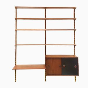 Teak and Brass Wall Unit by Finn Juhl for Bovirke Denmark, 1953