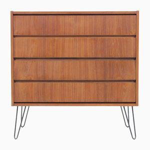 Danish Teak Chest of Drawers with Iron Legs from Silkeborg, 1960s