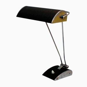 Verchromte Vintage Metall Tischlampe von Eileen Gray für Jumo