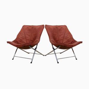 Klappbare Vintage Sessel von Teun Van Zanten für Molinari, 2er Set