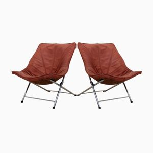 Vintage Foldable Easy Chairs by Teun Van Zanten for Molinari, Set of 2