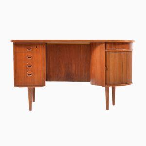 Vintage Model 54 Teak Kidney Desk by Kai Kristiansen for Feldballes Møbelfabrik