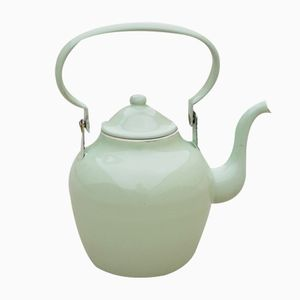 Vintage Mint Green Enamel Teapot from Emo Celje