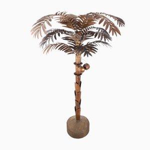 Vintage Brass Palm Tree Floor Lamp