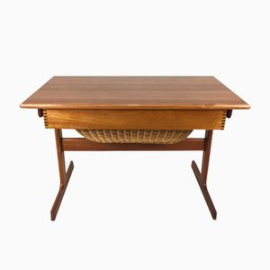 Danish Teak Sewing Table by Kai Kristensen for Vildbjerg Mobelfabrik, 1965