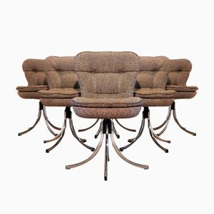 Mid-Century Italian Swivel Chairs, Set of 6