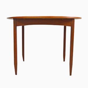 Circular Mid-Century Teak Extendable Table
