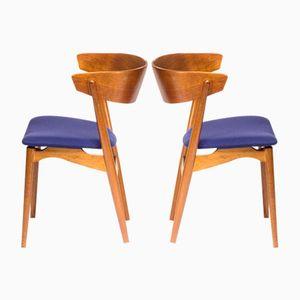 Vintage Modell Nr. 7 Stühle von Helge Sibast, 2er Set