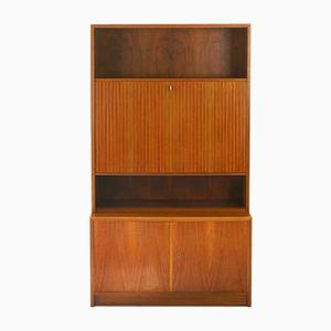 Walnuss Holz Sekretär, 1960er
