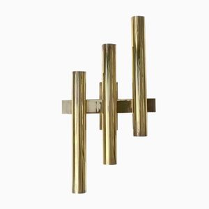 Italian Brass Wall Light with Six Lights, 1960s