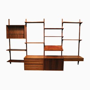 Mid-Century Modular Rosewood Wall Unit by Poul Cadovius for Cado