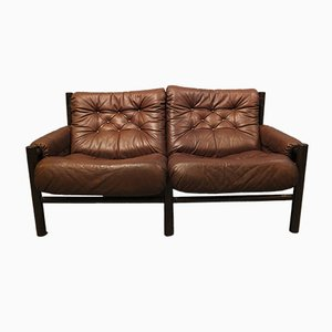 Mid-Century Safari Two-Seater Sofa by Torbjørn Afdal for Bruksbo