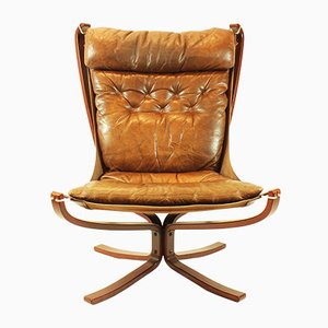 Norwegian Falcon Chair by Sigurd Ressell for Vatne Møbler, 1974