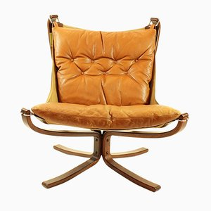 Vintage Norwegian Falcon Chair by Sigurd Ressell for Vatne Møbler