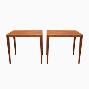 Mid-Century Side Tables by Severin Hansen for Central Mobler, Set of 2