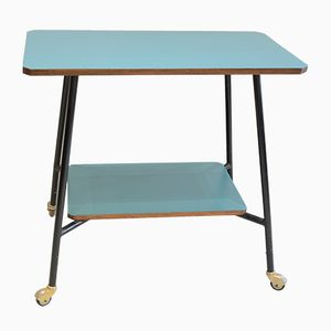 Side Table with Turquoise Top, 1950s
